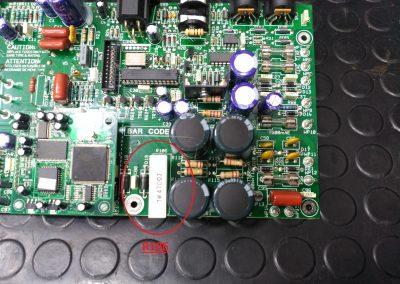 Placa del JVM410 desmontada