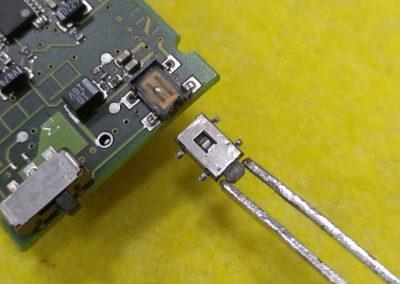 Cambio de pulsador de la placa de circuito
